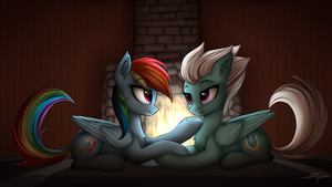 [COMMISSION] Rainbow and Fleetfoot by Setharu