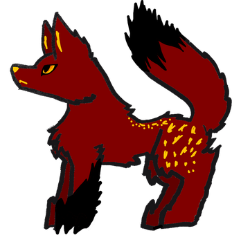 Chibi wolf adoptable-closed by Silverwill2002