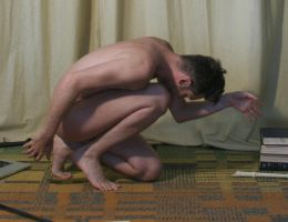 Male Nude Gesture  4 by TheMaleNudeStock
