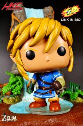 Custom Funko Pop LINK Breath Of The Wild by HKC by hunterknightcustoms