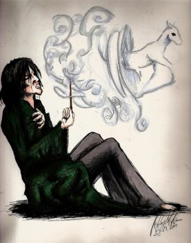 Snape and the Doe by badash13