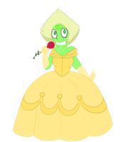 Gem Princesses - Peridot as Belle by Tira--Misu