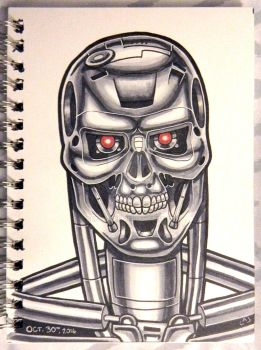 Inktober 2016: T-800 Terminator by Red-Flare