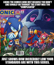 Low Standards with Sonic comics by Psyco-The-Frog