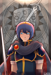 Marth, prince of Altea by LeahFoxDen