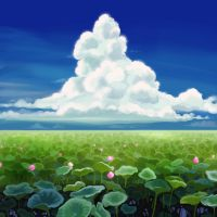 Speedpainting - Water Lilies pond by SeverineDumagny