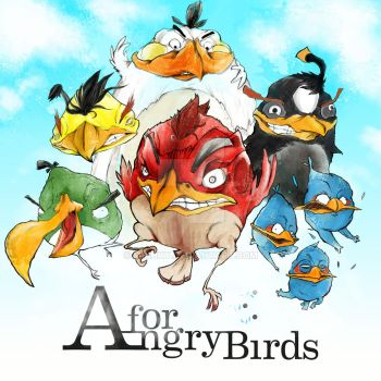 'A' for 'Angry Birds' by Minhky