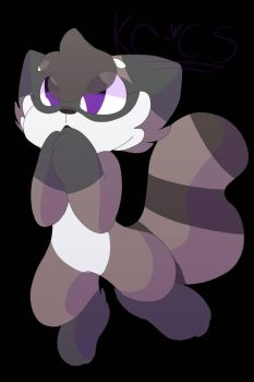 art trade with Silent Raccoon qwq by Kittencloudy4u