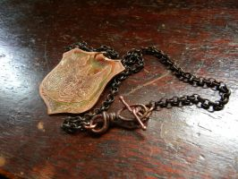 Rhino Etched Menagerie Necklace For Sale by modastrid