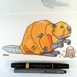 Gas-powered Beaver Bot by D-MAC