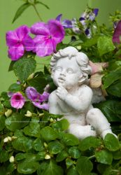 Little Angel of Flowers by Ophelia-Yvaine