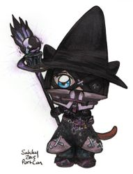 Black Mage Chibi by SarahsPlushNStuff