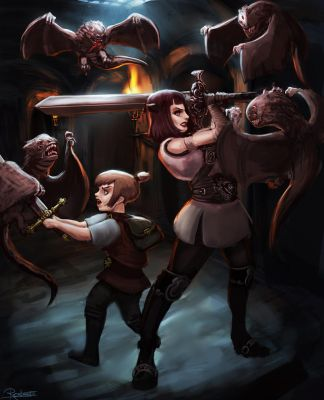 Dungeon Ambush by Clockweiz