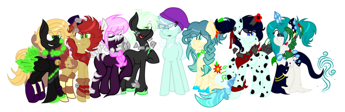 Cluster Pony Group by Rockies-Curiosities