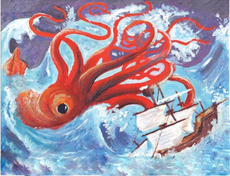 In The Wake of a Giant Squid by moughton7