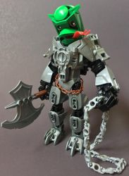 Bionicle MOC: Sir Fredrick of Lilypad by LordObliviontheGreat