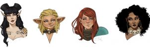 Rat Queens Portraits by ElizabethBeals