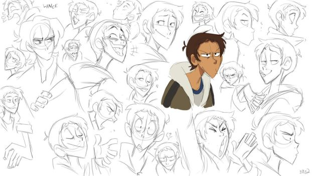 Warm up sketches Lance by s0s2