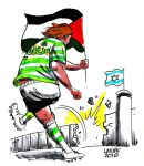 Celtic F.C. with Palestine by Quadraro