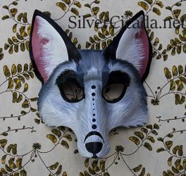 Leather Fox mask Fursona by SilverCicada