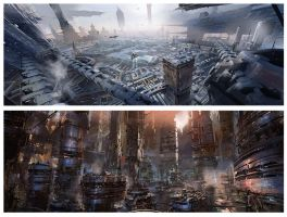 sci fi cities 1 by neisbeis