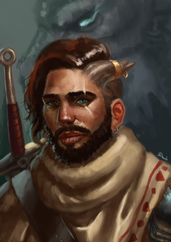 Just an adventurer portrait by Yarghu