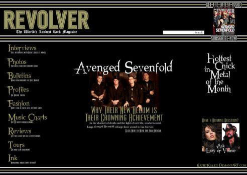 Revolver Magazine - Mock webpage by KriticKilled