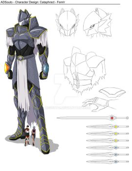 Character Design: Cataphract Fenrir by ADSouto