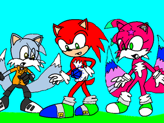 Team Trickster~Chaos Emerald Number One Found! by cassandera