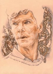 Benedict with flowers by SecondGoddess