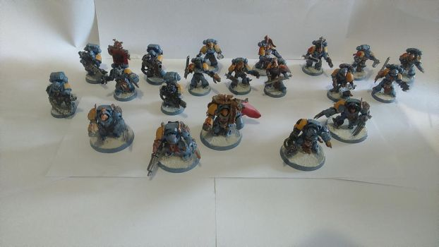 My Entire Space Wolves army by SPARTAN-180