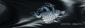 'The White Wolf in the North' King Jon's banner. by Ortizwalters