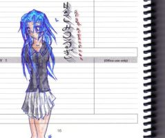 coloured diary sketch by pushka