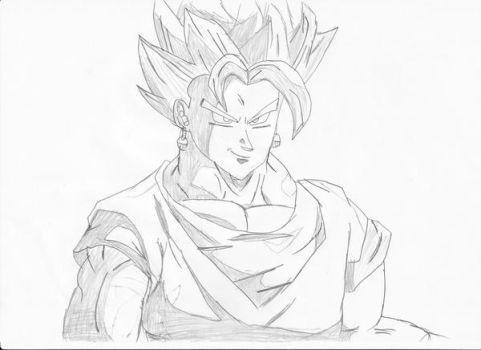 DBZ Super Vegetto Drawing by SmashBros2008