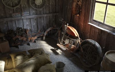 Old garage by slographic