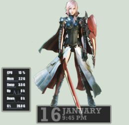 Lightning Returns: Final Fantasy XIII Rainmeter by seraphimax