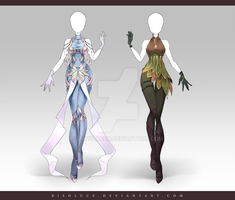 (CLOSED) Adoptable Outfit Auction 164-165 by JawitReen