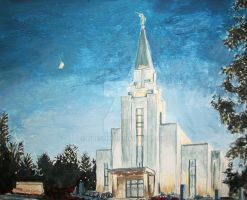 Vancouver British Columbia Canada LDS Temple by Ridesfire