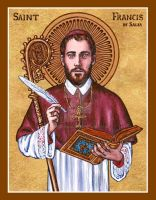 St. Francis de Sales icon by Theophilia