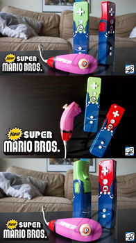 Swinging Trio - Custom Wii Controllers by ricepuppet