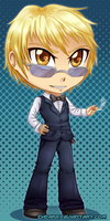 Shizuo Chibi: Commission Example by Zhdara