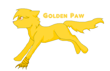 Golden Paw by Frosttailka