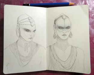 Sketchbook - The Pearls (Valerian) by Alodix