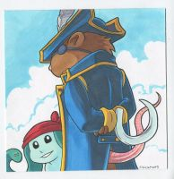 The Captain and Raccoon by JakeRichmond