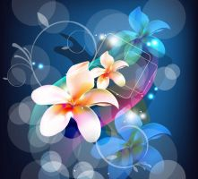 Abstract-Background-with-Flower by vectorbackgrounds