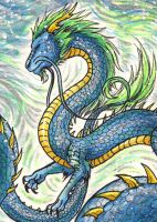 Water Dragon ACEO by Fyre-Dragon
