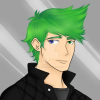 The Boy w/the Green Hair (Commission) by toriegarcia89