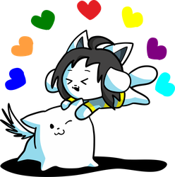 Toby and Temmie by ILOVEGIR64