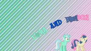 Lyra and BonBon - Wallpaper by GuruGrendo