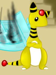 Ampharos the expedition leader by skatermuff
